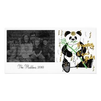 New Year Panda Photo Template Card