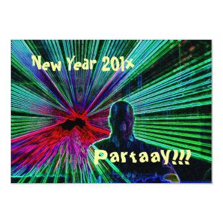 New Year Partaay!!! invitation 13 Cm X 18 Cm Invitation Card
