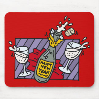 New Year Party Drinks Mouse Pad