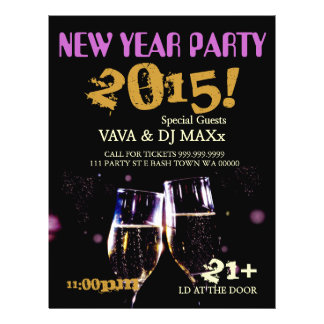 New Year Party Event Announcement Flyer