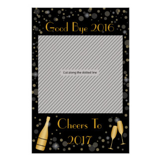 New Year Party Frame Prop for Photo Booth Poster