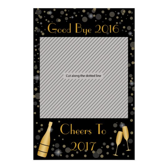 New Year Party Frame Prop For Photo Booth Poster Zazzlecom
