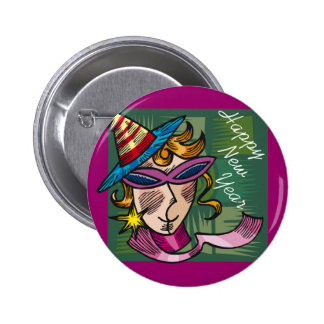 New Year Party In Progress Button