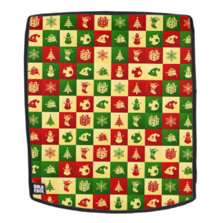 New Year pattern. Color mosaic. 2018. Backpack