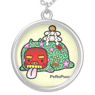 New Year PeRoPuuu Round Pendant Necklace