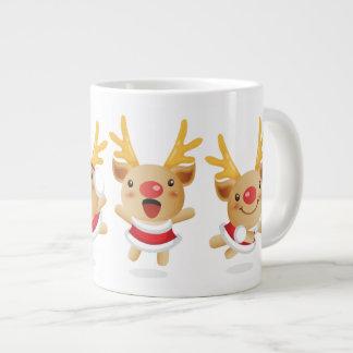 New Year Pig Christmas Deer Large Coffee Mug
