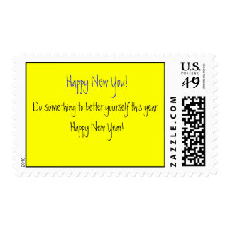 New Year Postage Stamp