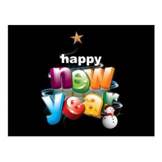 new-year postcard