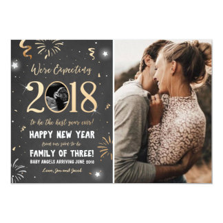 New year pregnancy announcement card 2018