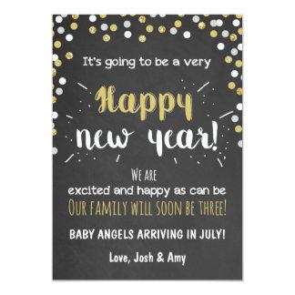 New year pregnancy chalkboard announcement
