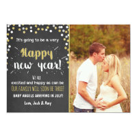 New year pregnancy chalkboard announcement