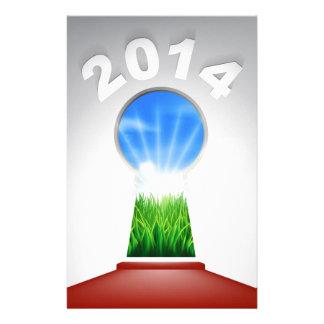 New Year Red Carpet 2014 Keyhole Customized Stationery