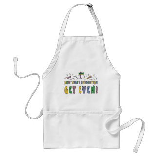 New Year Resolutions Funny Gift Adult Apron