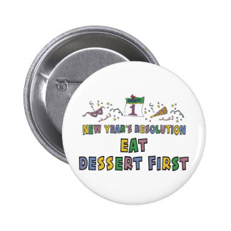 New Year Resolutions Funny Gift Pinback Buttons