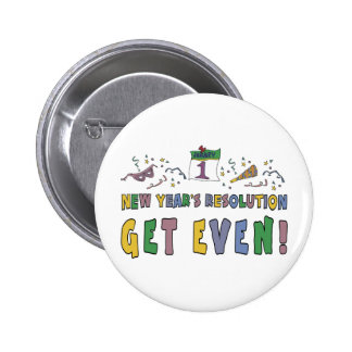 New Year Resolutions Funny Gift Button