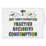 New Year Resolutions Funny Gift Greeting Cards