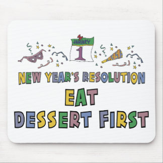 New Year Resolutions Funny Gift Mouse Pad