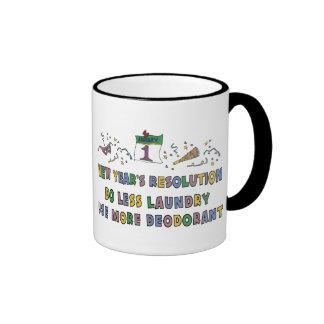 New Year Resolutions Funny Gift Ringer Mug