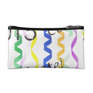 New Year's 2015 Multi Party Streamers on White Cosmetic Bags