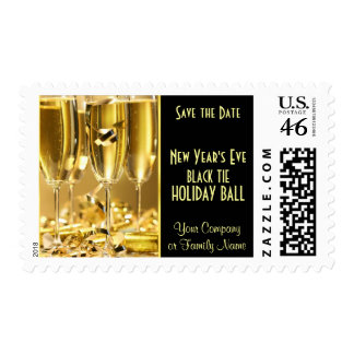 New Year s Eve Black Tie Party Invitation Postage