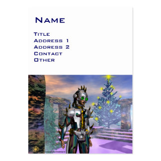 NEW YEAR S EVE OF A CYBORG BUSINESS CARD TEMPLATE