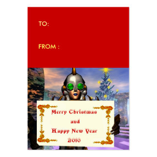 NEW YEAR S EVE OF A CYBORG gift tag Business Card