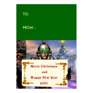 NEW YEAR S EVE OF A CYBORG gift tag Business Card Template
