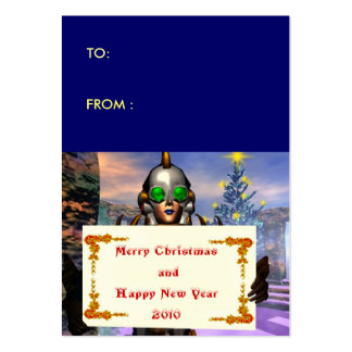 NEW YEAR S EVE OF A CYBORG gift tag Business Cards