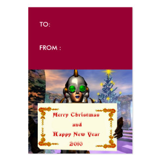 NEW YEAR S EVE OF A CYBORG gift tag Business Card Templates