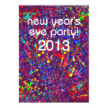New Year's Eve Party, Action Painting  Art Card