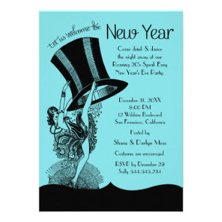 New Year s Eve Roaring 20 s Party Custom Invitation