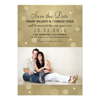 New Year s Eve Wedding Save the Date Photo Card