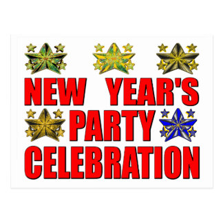 """New Year""""s Party Postcard"""