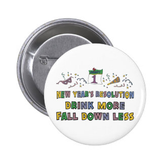 New Year s Resolution Pinback Buttons