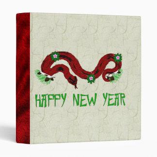 New Year Snake 3 Ring Binder