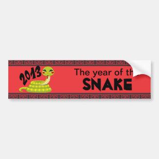 New Year Snake Bumper Sticker
