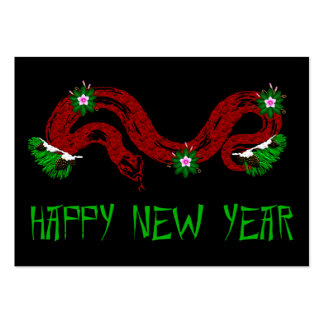 New Year Snake Large Business Cards (Pack Of 100)