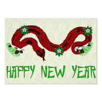 New Year Snake Card
