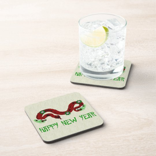 New Year Snake Drink Coaster