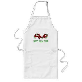 New Year Snake Long Apron