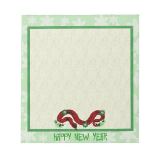 New Year Snake Note Pad