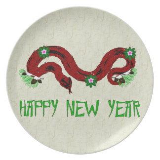 New Year Snake Party Plate