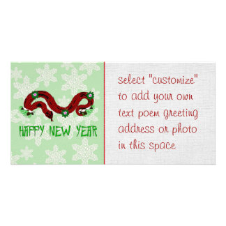 New Year Snake Photo Card