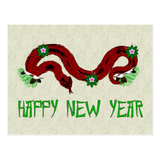 New Year Snake Postcard