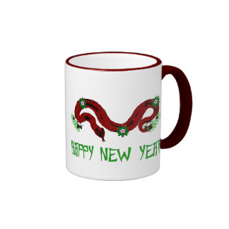 New Year Snake Ringer Coffee Mug
