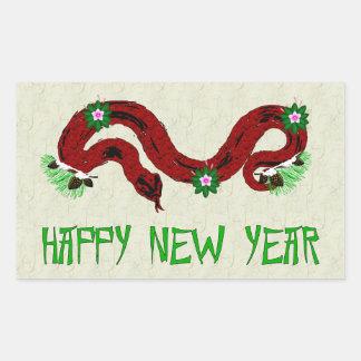 New Year Snake Rectangle Sticker