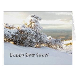 New Year Snow Wave, Oregon Card