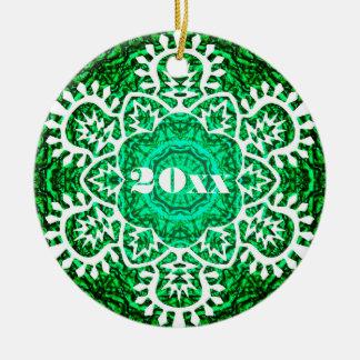 New Year Snowflake Ceramic Ornament