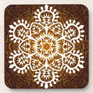 New Year Snowflake Coaster