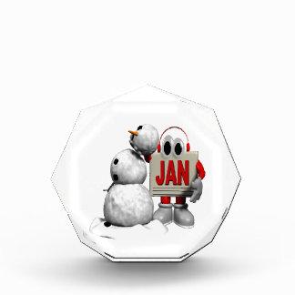 New Year Snowman Acrylic Award